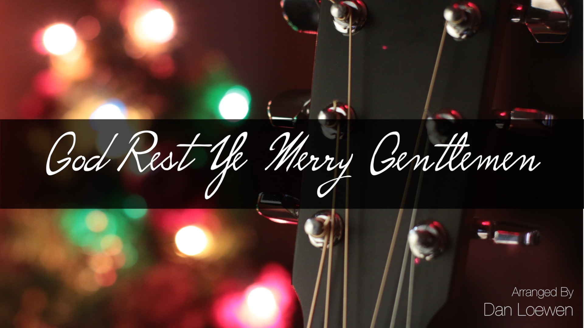 God Rest Ye Merry Gentlemen (Acoustic Jig Arrangement)